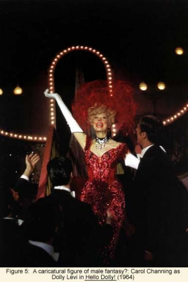 A caricatural figure of male fantasy?: Carol Channing as Dolly Levi in Hello Dolly! (1964)