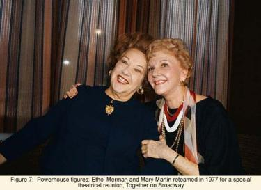 Ethel Merman and Mary Martin reteamed in 1977 for a special theatrical reunion, Together on Broadway