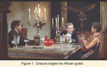 Dracula oogles his African guest