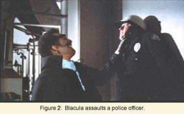 Blacula assaults a police officer