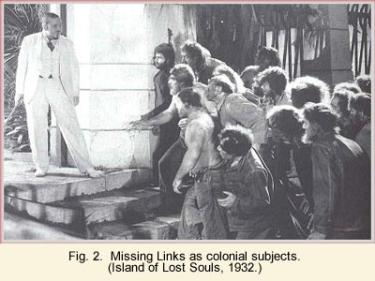 Missing links as colonial subjects