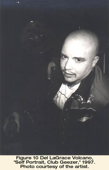 "Del LaGrace Volcano, ""Self Portrait, Club Geezer,"" 1997. Photo courtesy of the artist"