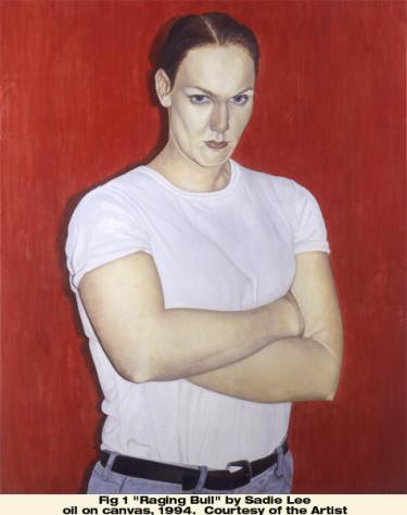 """""""Raging Bull"""" by Sadie Lee, oil on canvas, 1994. Courtesy of the Artists"""