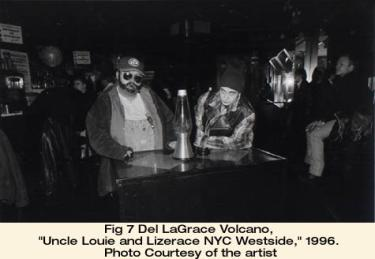 """Del LaGrace Volcano, """"Uncle Louie and Lizerace NYC Westside,"""" 1996. Photo courtesy of the artist"""