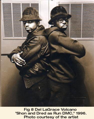 "Del LaGrace Volcano, ""Shon and Dred as Run DMC,"" 1996. Photo courtesy of the artist"