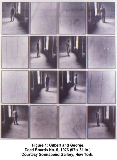 Gilbert and George, Dead Boards No. 5, 1976 (97 x 81 in.). Courtesy Sonnabend Gallery, New York.