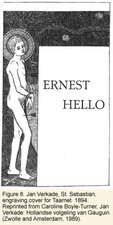 """St. Sebastian engraving - """"Ernest Hello"""""""