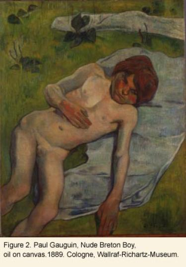 Nude breton boy painting