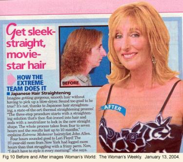"""Get sleek, straight, movie-star hair"" magazine cover"