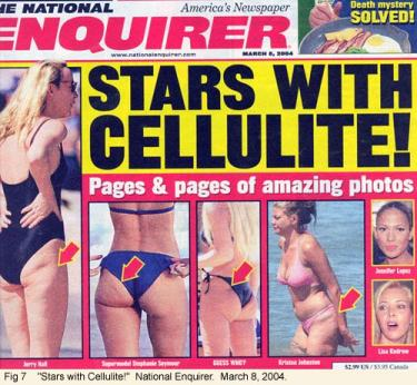 """Stars with Cellulite"" magazine cover"