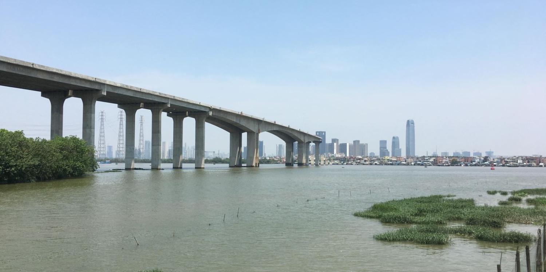 view of bridge over water