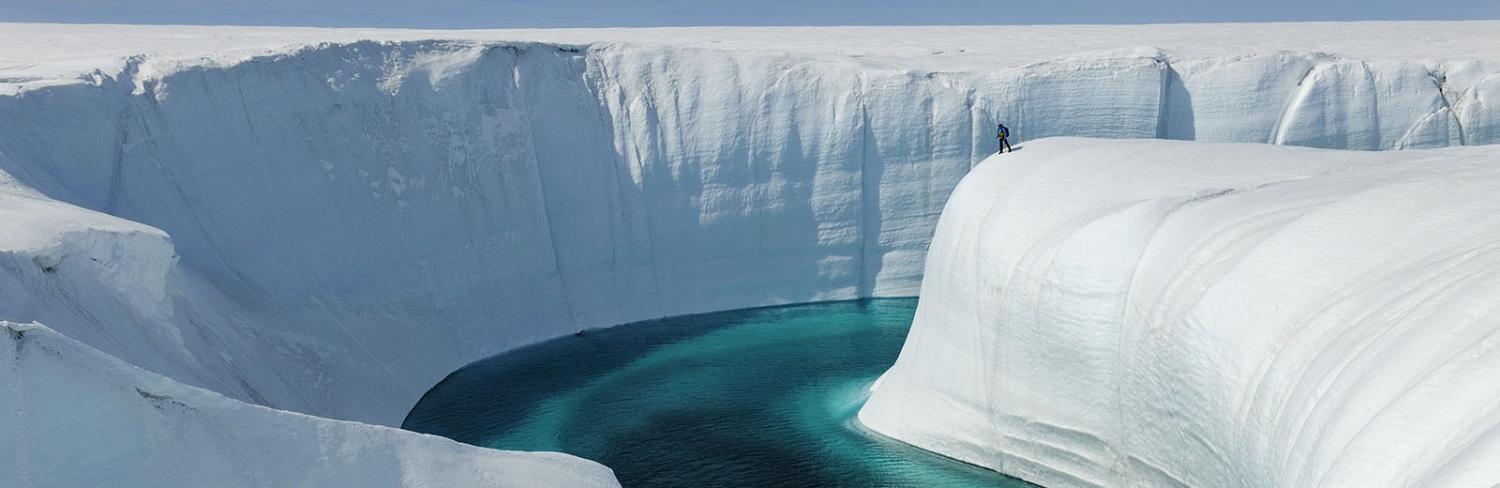 Arctic ice and water