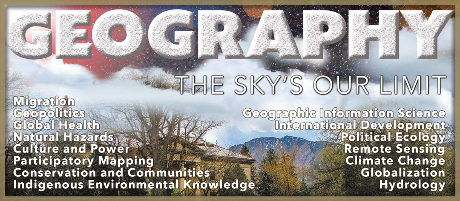"Geography study topic with ""The Sky is Our Limit"""