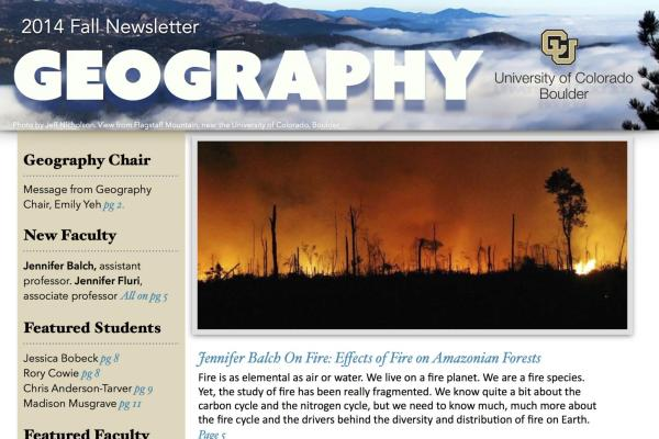 2014 Fall Newsletter cover
