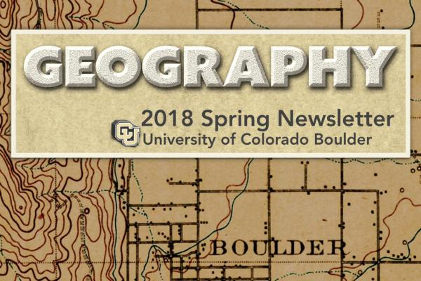2018 Spring Newsletter cover image with table of contents