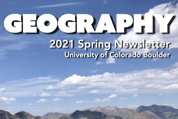 2021 Spring Newsletter cover with aerial photo of Crested Butte