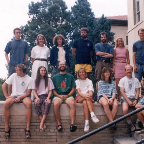 Fall 1994 Graduate Students Group Photo - Back Row: Paul Talbot
