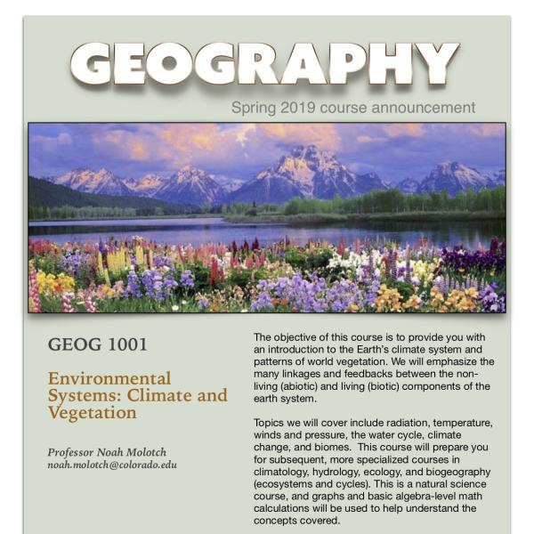GEOG 1001 Poster