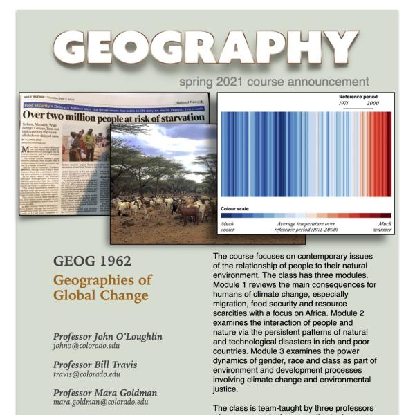GEOG 1962 Course Flyer for Spring 2021