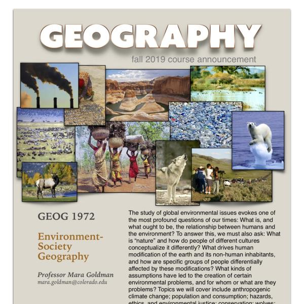 GEOG 1972 Course Announcement for Fall 2019