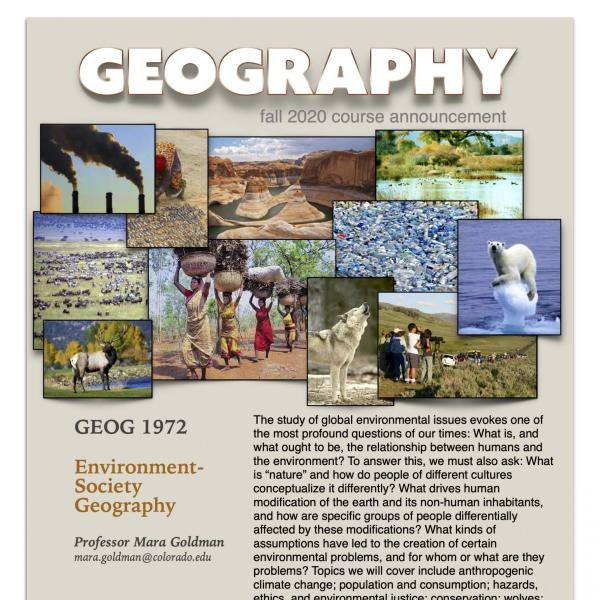 GEOG 1972 Course Flyer for Fall 2020