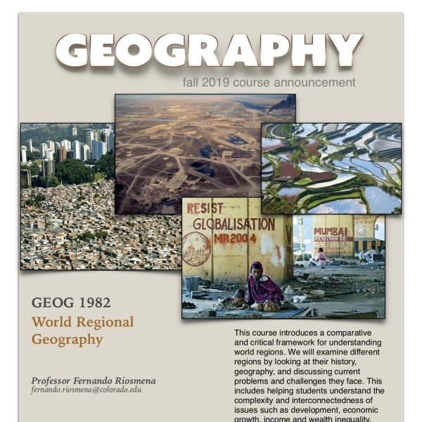 GEOG 1982 Course Announcement for Fall 2019