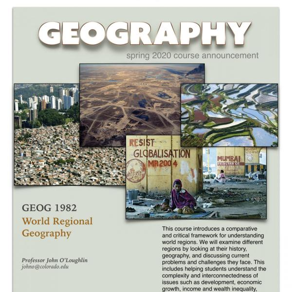 GEOG 1982 Course Announcement for Spring 2020