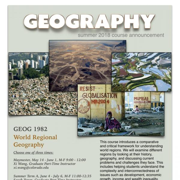 GEOG 1982 Course Flyer - Summer 2018