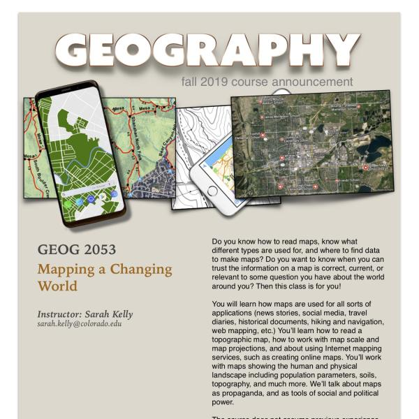 GEOG 2053 Course Announcement for Fall 2019