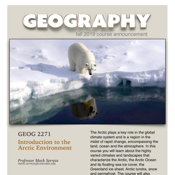 GEOG 2271 Course Announcement for Fall 2019