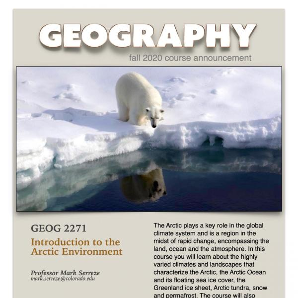 GEOG 2271 Course Flyer for Fall 2020