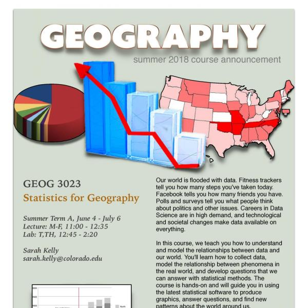 GEOG 3023 Course Flyer - Summer 2018