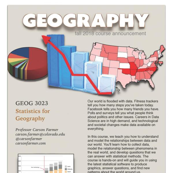 GEOG 3023 Course Flyer for Fall 2018