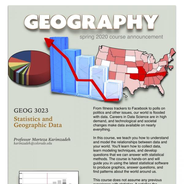 GEOG 3023 Course Announcement for Spring 2020