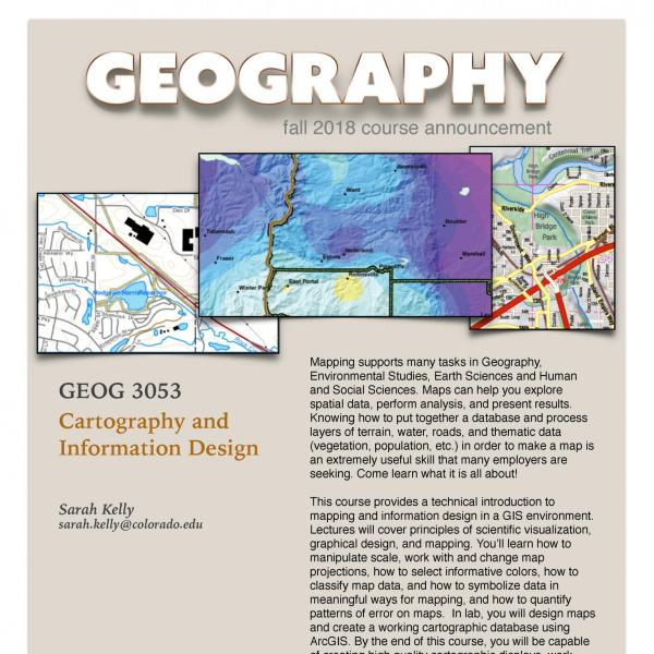 GEOG 3053 Course Flyer for Fall 2018