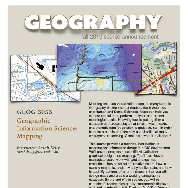 GEOG 3053 Course Announcement for Fall 2019