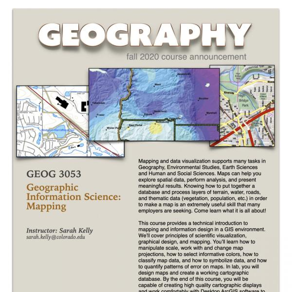 GEOG 3053 Course Flyer for Fall 2020