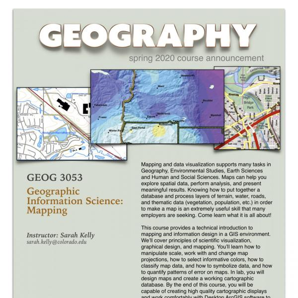 GEOG 3053 Course Announcement for Spring 2020