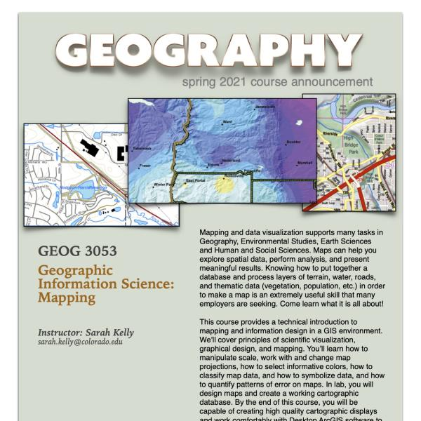 GEOG 3053 Course Flyer for Spring 2021