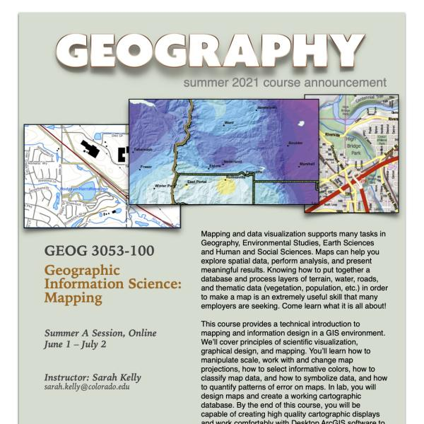 GEOG 3053 Course Flyer for Summer 2021