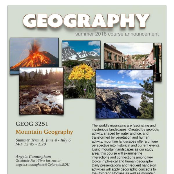 GEOG 3251 Course Flyer - Summer 2018