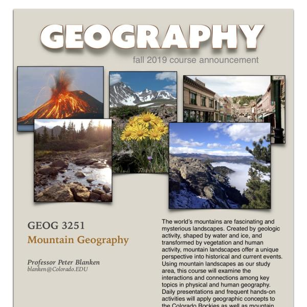 GEOG 3251 Course Announcement for Fall 2019