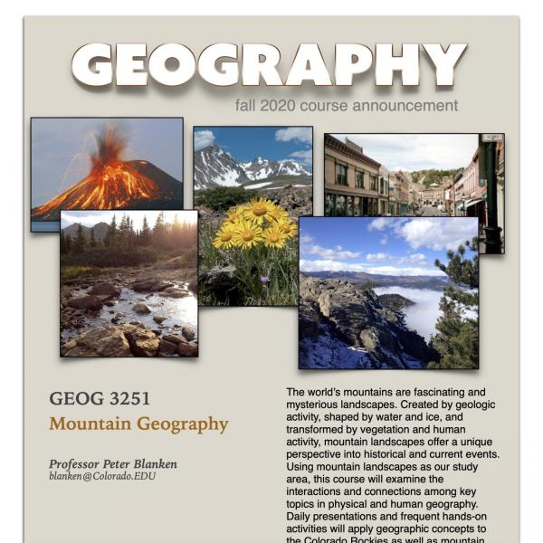 GEOG 3251 Course Flyer for Fall 2020