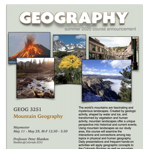 GEOG 3251 Course Flyer for Summer 2020