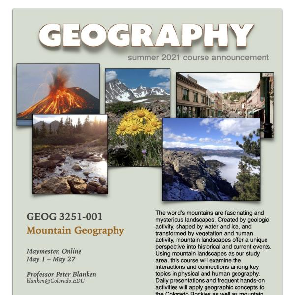 GEOG 3251 Course Flyer for Summer 2021
