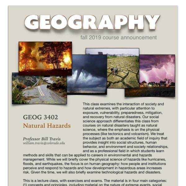 GEOG 3402 Course Announcement for Fall 2019