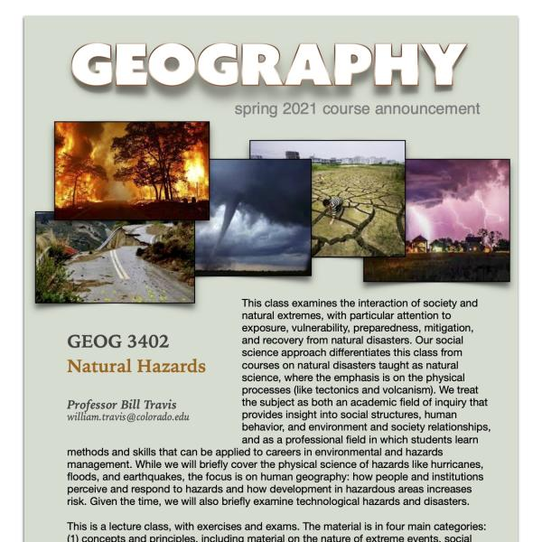 GEOG 3402 Course Flyer for Spring 2021