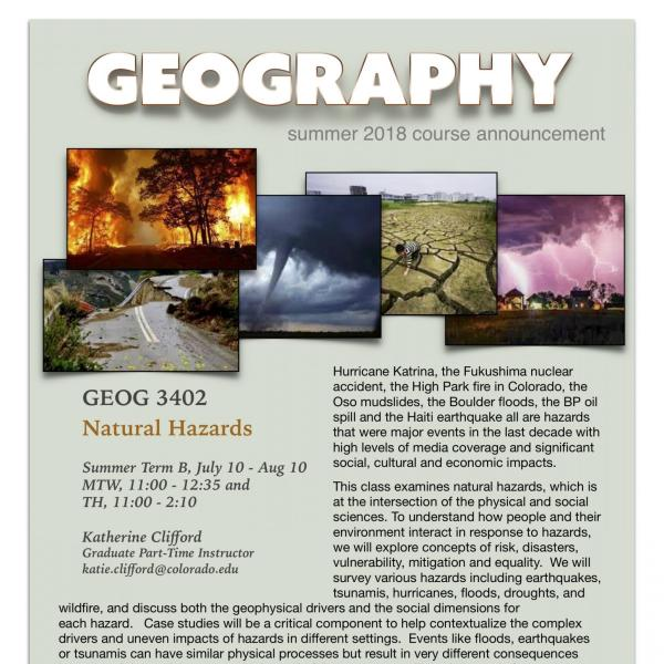 GEOG 3402 Course Flyer - Summer 2018