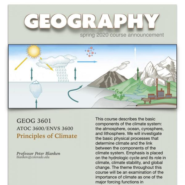 GEOG 3601 Course Announcement for Spring 2020