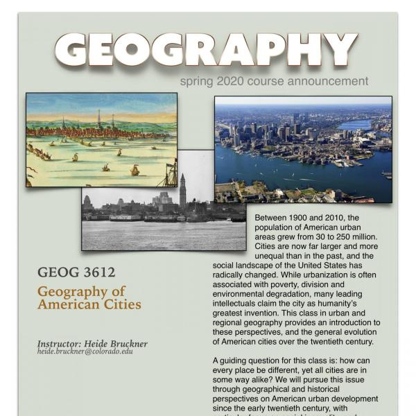GEOG 3612 Course Announcement for Spring 2020